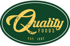 A theme logo of Quality Foods